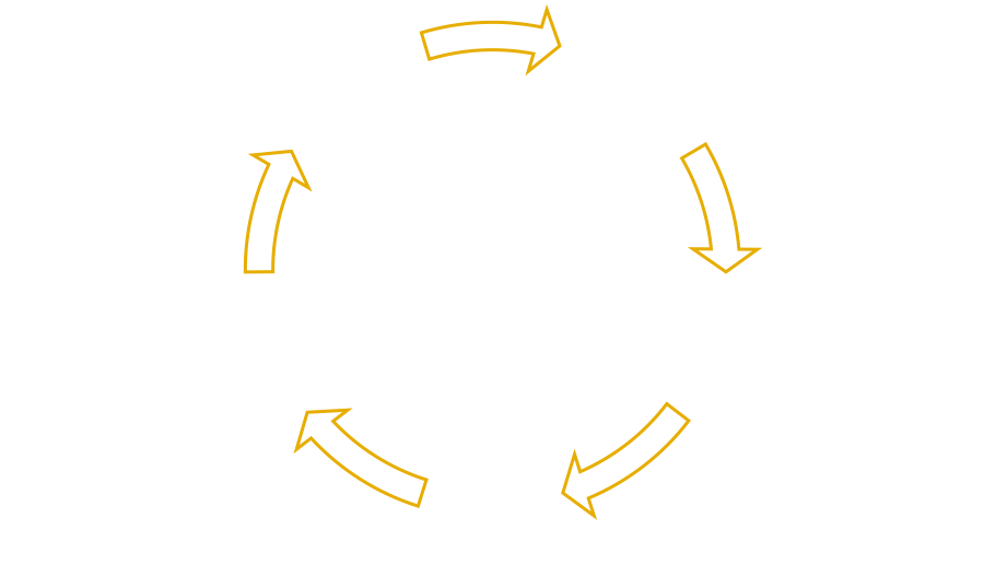 Mental wellbeing 5-step cycle